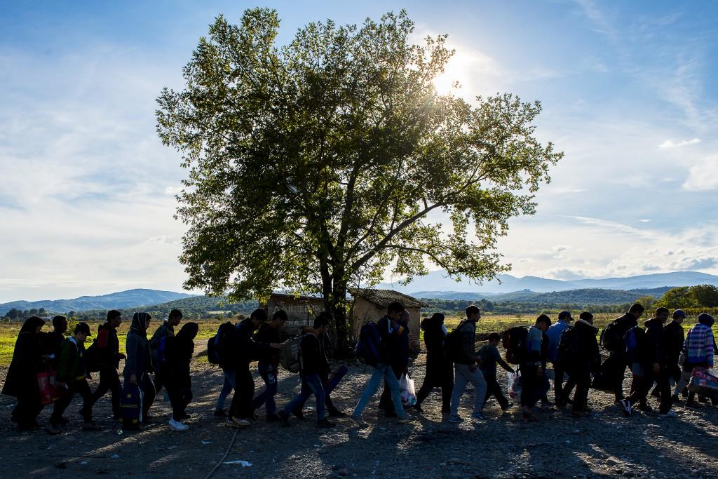 Fotografia de Sandra Ribeiro. Campo de refugiados de Gevgelija, 30 abril  de 2015.