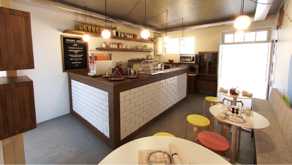 PAIISA - Cafetaria e e Espaço de Livros (Modelação 3D)